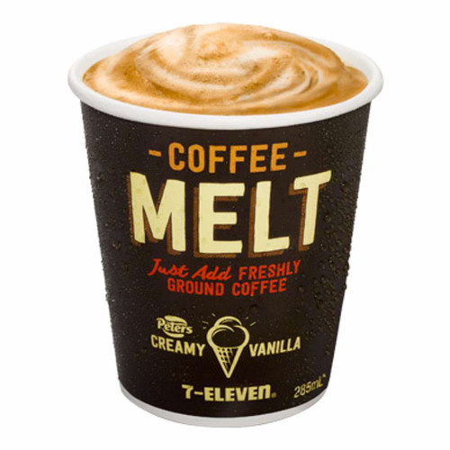 Frozen, creamy Peters vanilla base topped with freshly ground coffee. Make it yourself today in store.