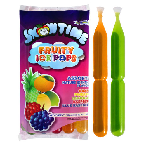 A frozen ice pop treat. Perfect and popular in schools. this box also comes in a mixed variety of flavours.