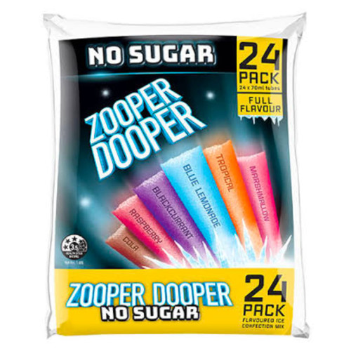 Zooper Doopers are a great ice block treat! 8 cosmic flavours available.