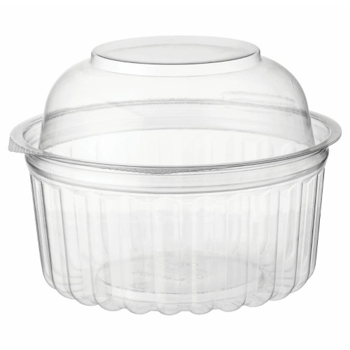 Castaway food bowls feature exceptional clarity and durability. Our air tight lids ensure freshness. A double- split hinge allows containers to be laid on a bench for quick and easy filling.