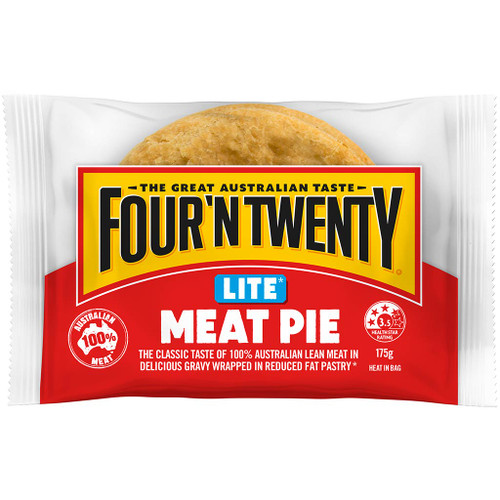 Tasty 100% Australian lean beef in rich flavoursome gravy, all packed in a perfect reduced fat golden pastry. Also approved by the Heart Foundation tick program.