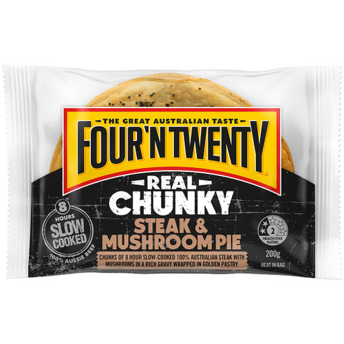 When it comes to chunky pies, Four'N Twenty real chunky steak pie is the real deal.
