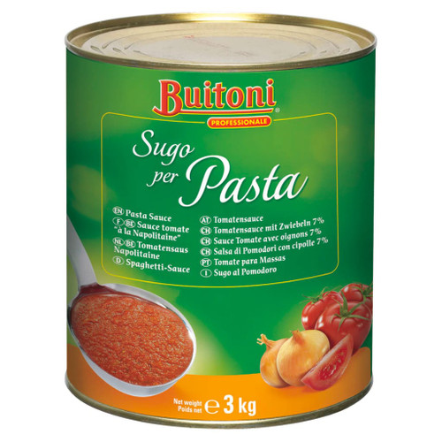 An authentic Italian Napolitana style sauce. Rich and full bodied, blended with onions, herbs and spices. Lightly seasoned with basil and oregano.
