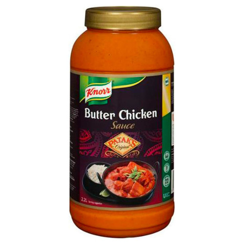 Pataks Mild butter chicken is a rich, creamy tomato and butter flavour curry sauce.