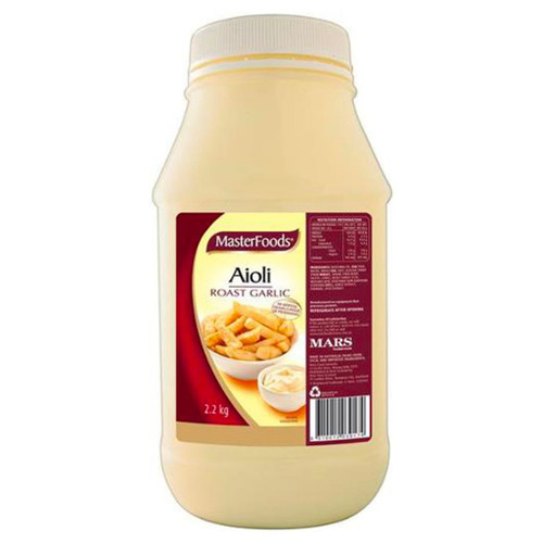 MasterFoods aioli is made with our famous whole egg mayonnaise and real roast garlic. the thick and smooth texture is perfect as a dipping sauce.