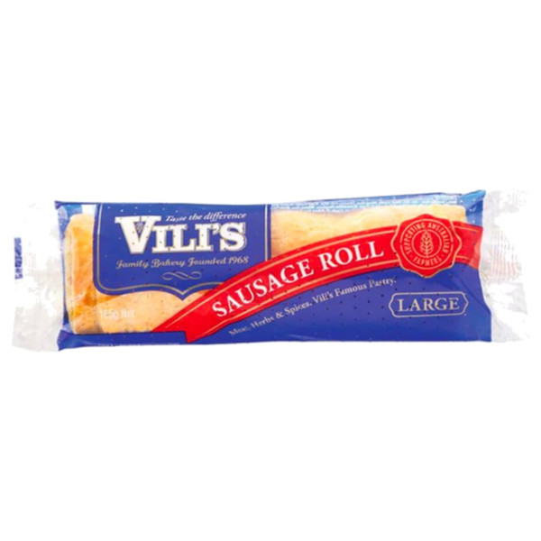 The large sausage roll is made using our famous flaky pastry, filled with a blend of beef mince, herbs and spices, made a little larger for a man size meal.