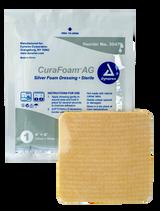"""CuraFoam AG Silver Foam Dressing - 4""""x4"""""""
