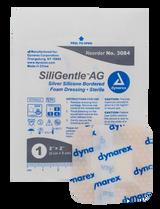 "SiliGentle AG Silver Silicone Bordered Foam Dressing - 2""x2"""