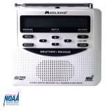 WR120C Midland Emergency Weather NOAA Radio with Alarm Clock - Top View