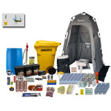 Homestead Emergency Preparedness Kit (Ultimate) - Displayed with optional Long Term Gourmet Meals