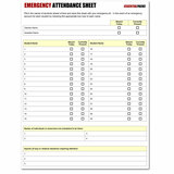 Emergency Attendance Sheet