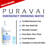 Puravai Emergency Drinking Water in 1 Liter Reusable Canteen (20 Year Shelf Life)