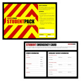 StudentPack Emergency Kit - Front Label and Emergency Card