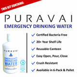 Puravai Emergency Drinking Water in Reusable Canteen- 20 Year Shelf Life - Features