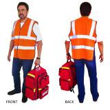 Man Wearing Premium Orange Safety Vest