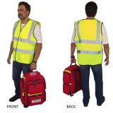 Man Wearing Premium Yellow Safety Vest