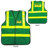Premium Green CERT Safety Vest - Front and Back