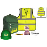 Basic CERT Kit with Yellow Vest - Contents