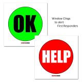 Classroom Emergency Window Clings (OK / Help)