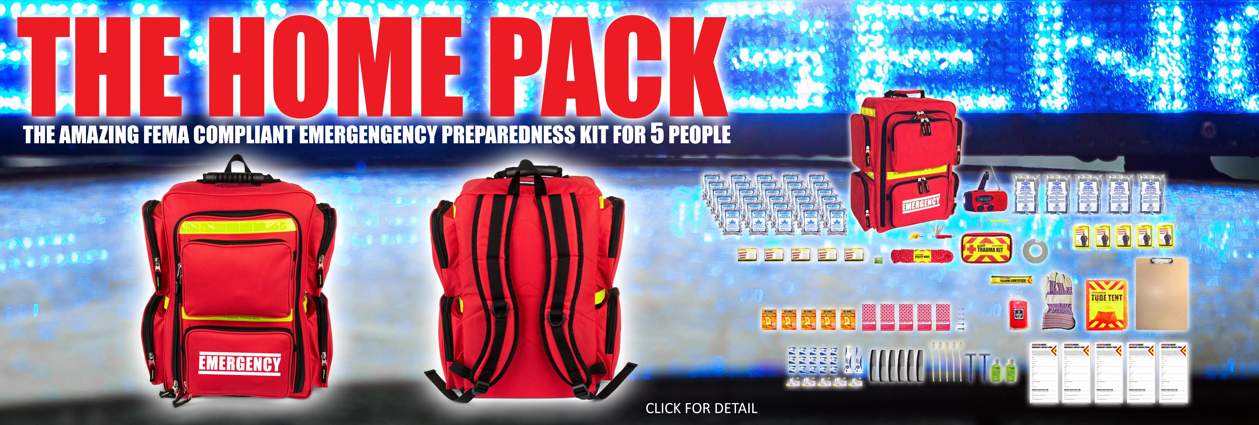 FEMA Compliant Emergency Preparedness Kit for 5 People