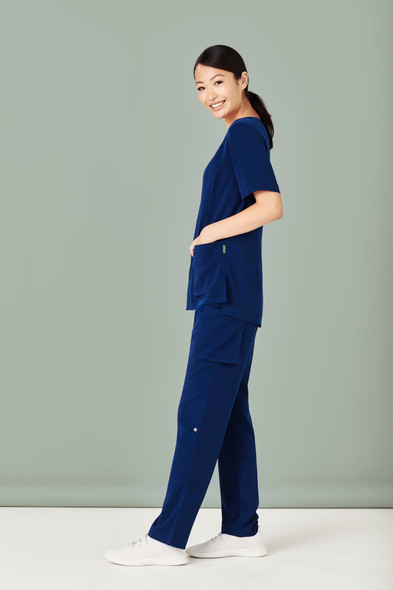 Womens Tailored Fit Round Neck Scrub Top CST942LS