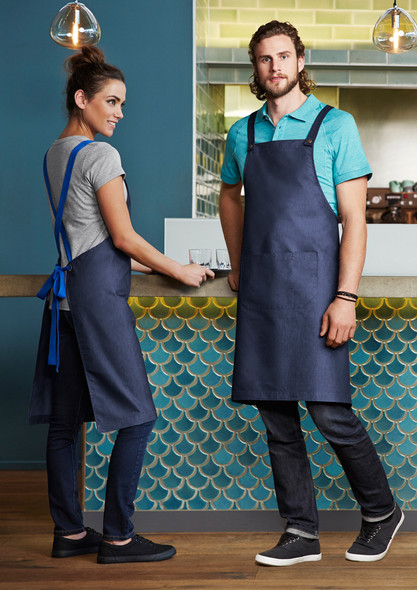 URBAN BIB APRON  BA55-Blue Denim
