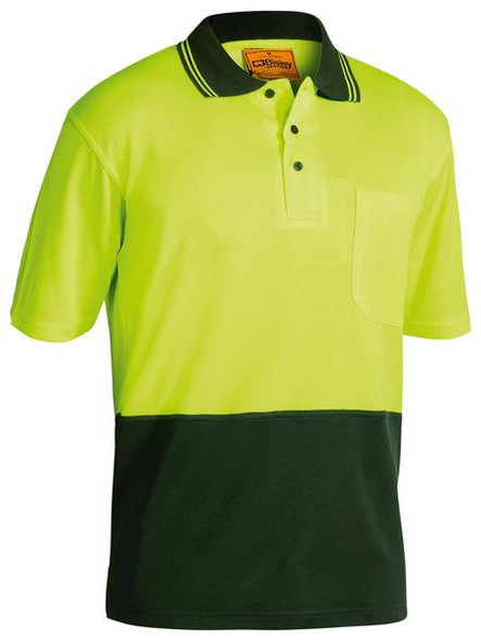 2 TONE HI VIS POLO SHIRT - SHORT SLEEVE BK1234