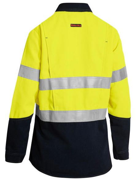 TENCATE TECASAFE® PLUS WOMEN'S TAPED TWO TONE FR HI VIS LIGHTWEIGHT VENTED LONG SLEEVE SHIRT  BL8098T