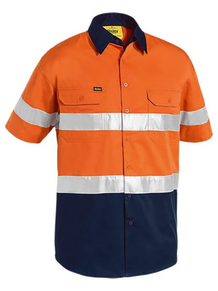 3M TAPED TWO TONE HI VIS COOL LIGHTWEIGHT SHIRT - SHORT SLEEVE BS1896