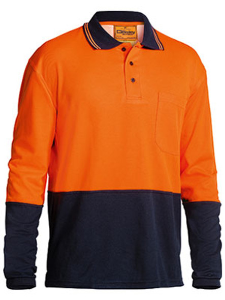 2 TONE HI VIS POLO SHIRT - LONG SLEEVE  BK6234