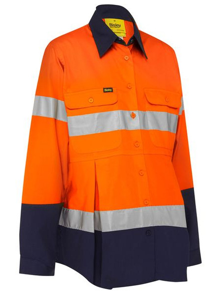 Bisley 3M Taped Hi Vis Maternity Drill Shirt (BLM6456T)