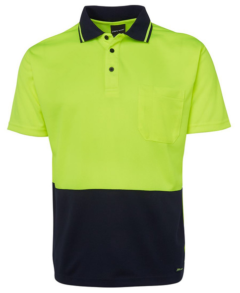 ADULTS  HI VIS NON CUFF TRADITIONAL POLO 6HVNC - Adults