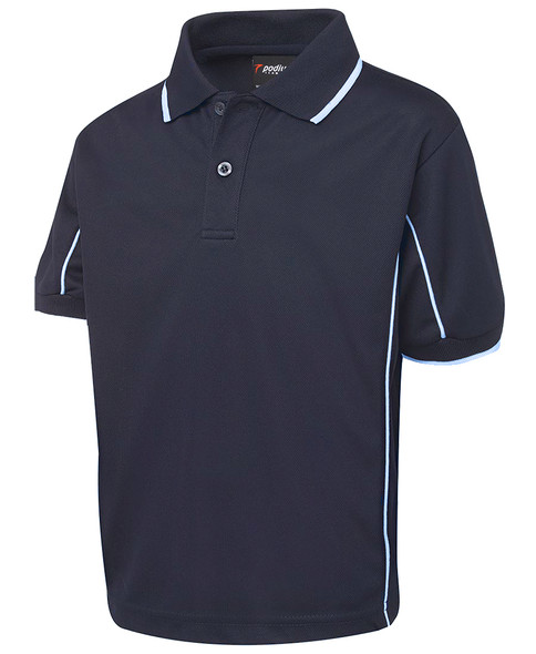 KIDS S/S PIPING POLO 7PIPS