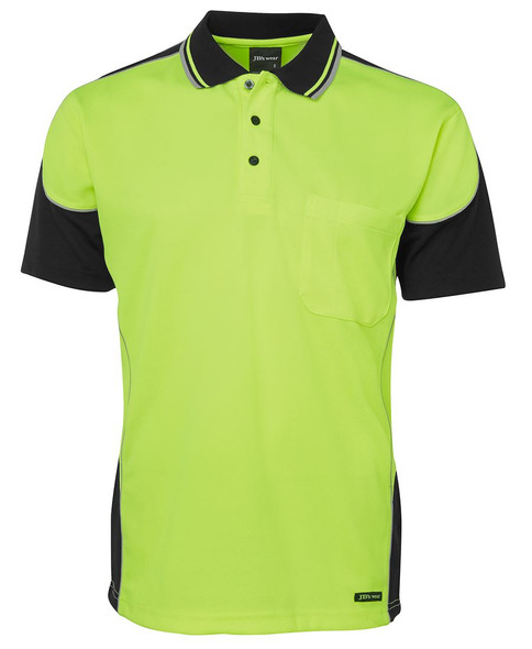 HI VIS CONTRAST PIPING POLO 6HCP4