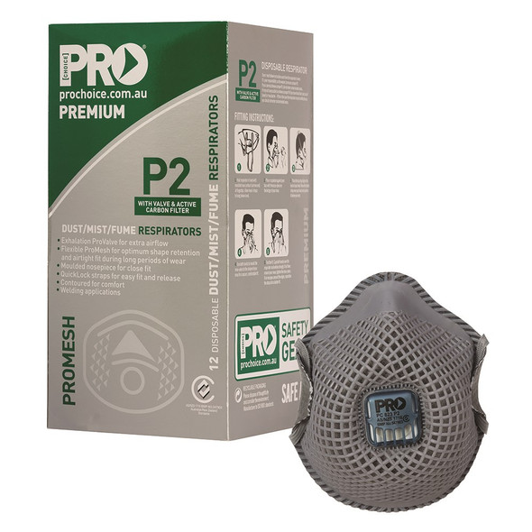 ProMesh Respirator P2 with Valve and Active Carbon Filter - PC823