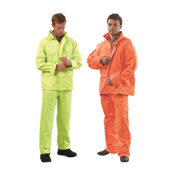 High Vis Rain Suit - Jacket & Pant Set - RSHV