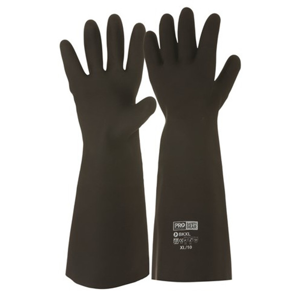 ProChoice® Black Knight® 46cm Rubber Gloves  BK