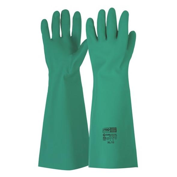 ProChoice® 45cm Green Nitrile Gauntlet Gloves RNU22 pk12