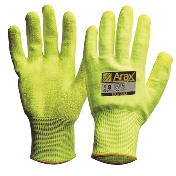 ProChoice® Arax® Gold Hi-Vis Yellow With Hi-Vis Yellow PU Palm AFYPU