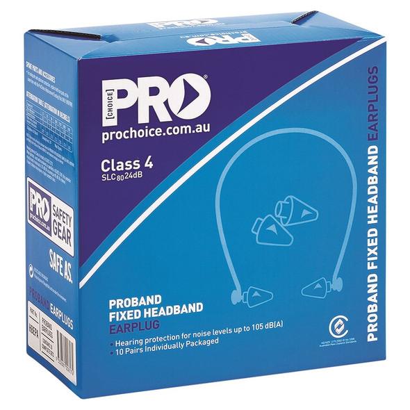 PROBAND® FIXED HEADBAND EARPLUGS CLASS 4 -24DB- HBEPA pk10