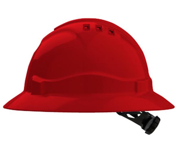 PRO CHOICE V6 Hard Hat Vented Full Brim Ratchet Harness - HHV6FB