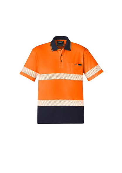 Unisex Hi Vis Segmented S/S Polo - Hoop Taped ZH535