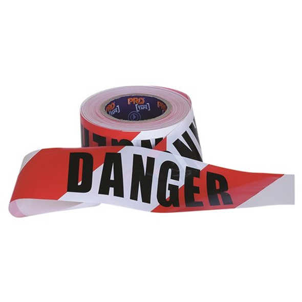 ProChoice® Barricade Tape - 100m x 75mm DANGER Print DT10075
