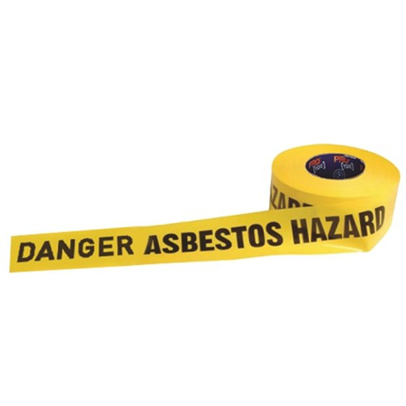 ProChoice® Barricade Tape - 300m x 75mm DANGER ASBESTOS DUST HAZARD Print DADH30075