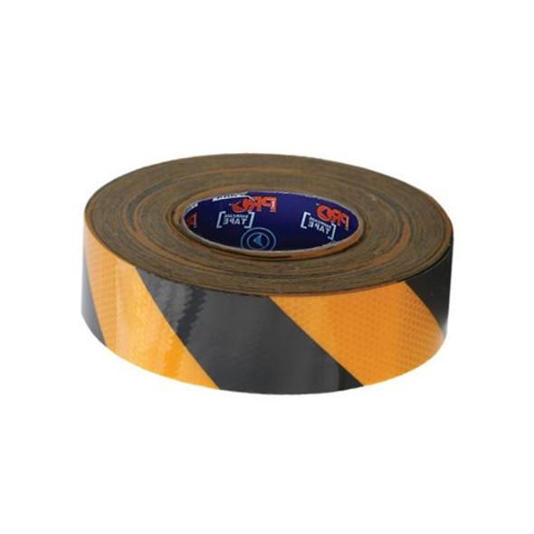 ProChoice® Self Adhesive Reflective Hazard Tape Yellow & Black. 50m x 50mm YB5050-R