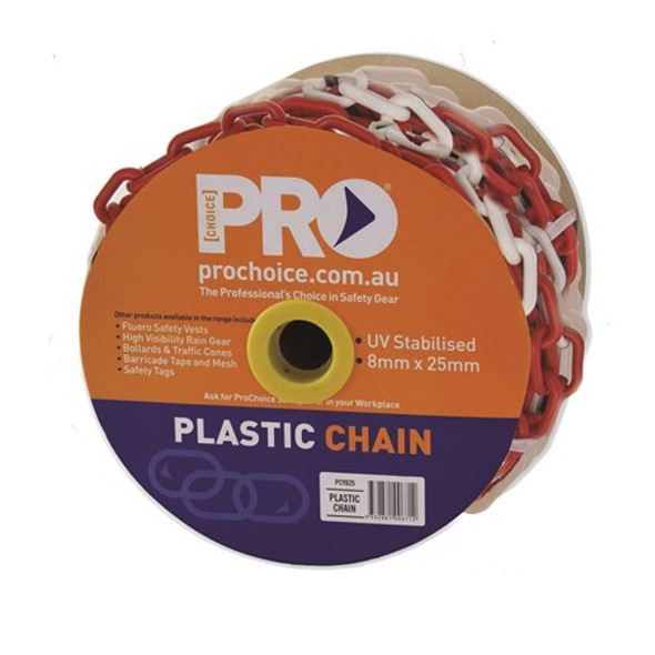ProChoice® 8mm Red/White chain PCRW825