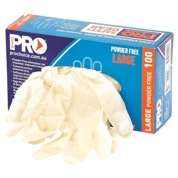 ProChoice® Disposable Latex Powder Free Gloves MDLPF box 10