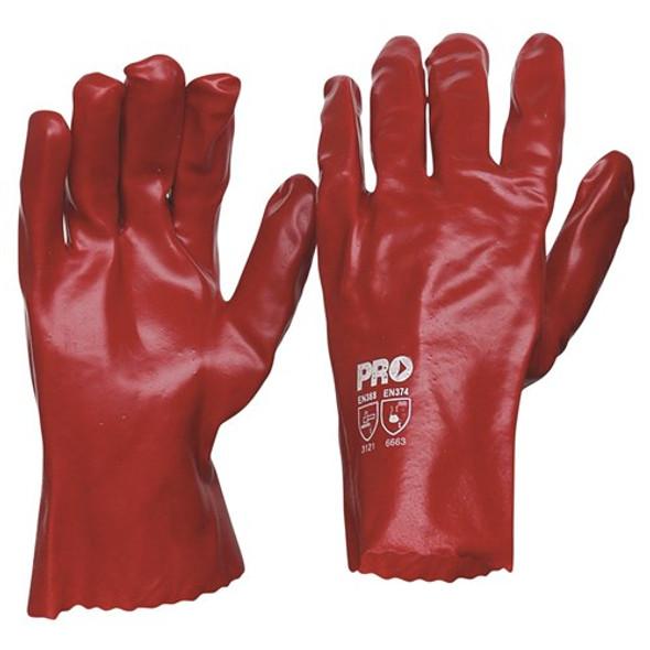 ProChoice® 27cm Red PVC Gloves Large PVC27 pk12