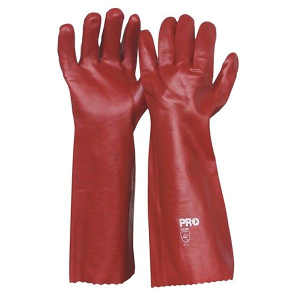 ProChoice® 45cm Red PVC Gloves Large PVC45 pk12
