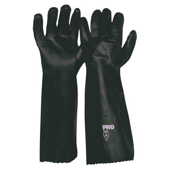 ProChoice® 45cm Green Double Dipped PVC Gloves Large PVC45DD 12pk